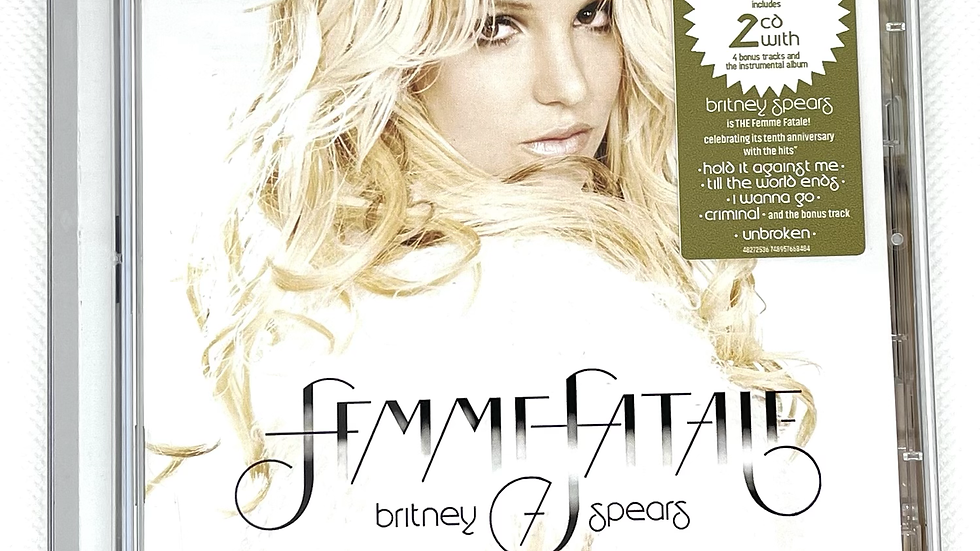 """Britney Spears """"Femme Fatale"""" 10th Anniversary Edition 2 cd"""