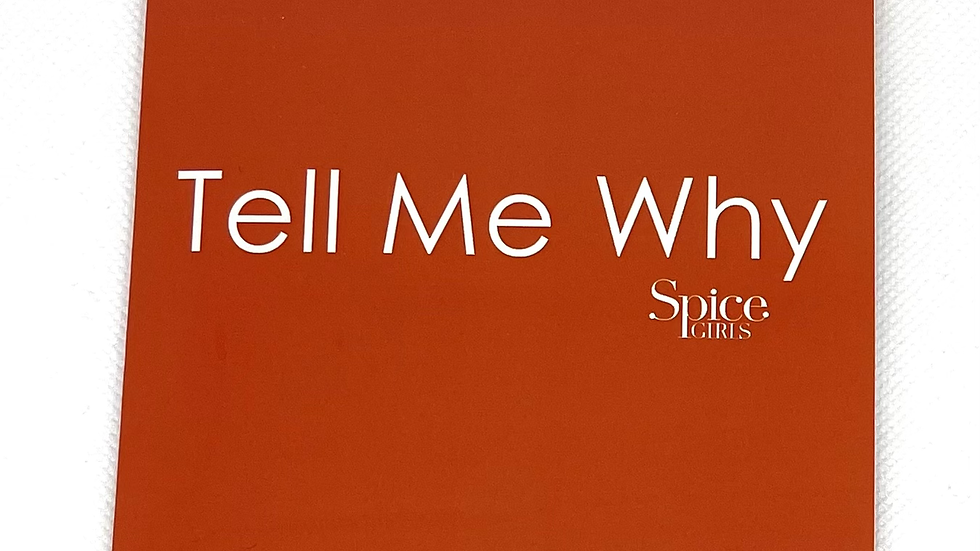 """Spice Girls """"Tell Me Why"""" cd single"""