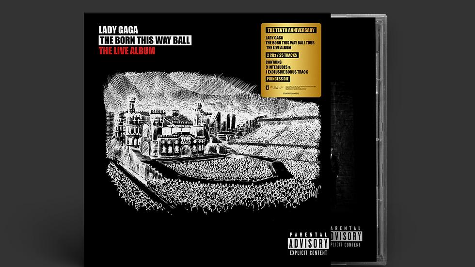 "Lady gaga ""The Born This Way Ball"" Live 2 cd + postcard"