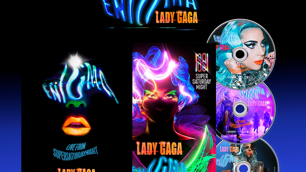 """Lady Gaga """" Enigma"""" Super Saturday Night Dvd + 2Cd"""
