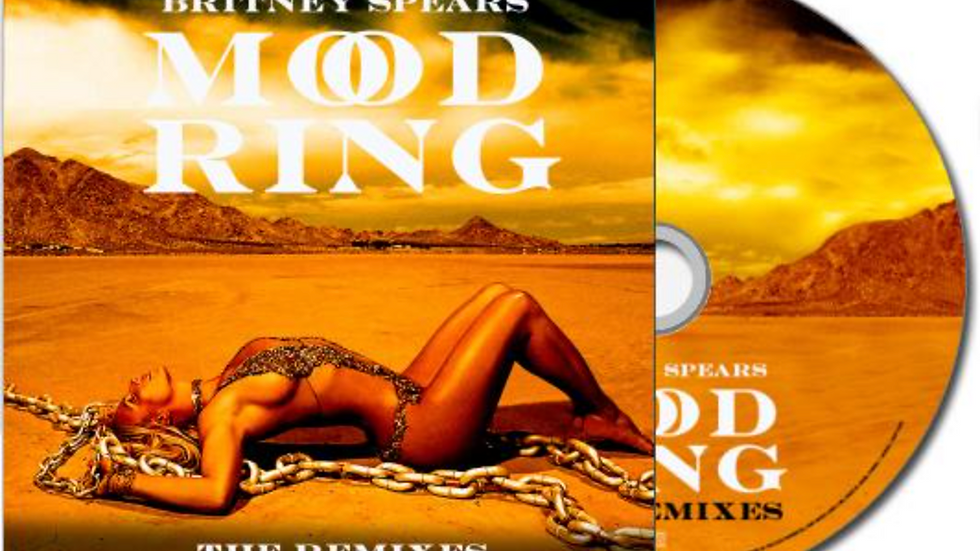 """Britney Spears """"Mood Ring The Remixes"""" Cd Single"""