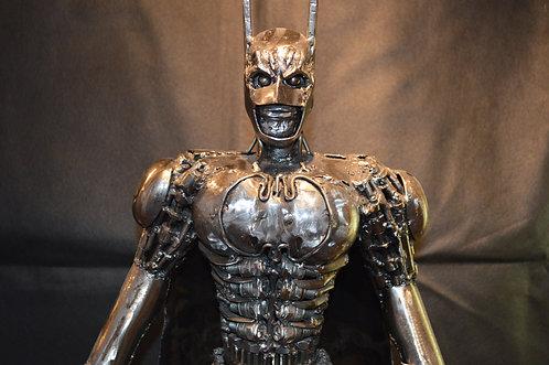 Batman Scrap Metal Sculpture Model Recycled Handmade Art