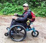 アウトドア用車椅子、MountainTrike,オフロード用車椅子