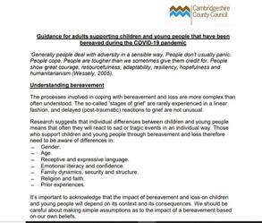 Cambridge County Council COVID-19 Advice page 1