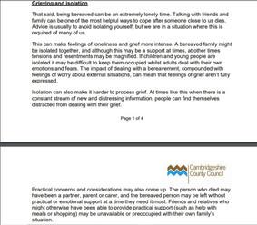 Cambridge County Council COVID-19 Advice page 2