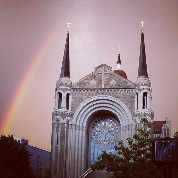 Carmen Rivera - Rainbow Over Notre Dame - digital photograph, June 27, 2017