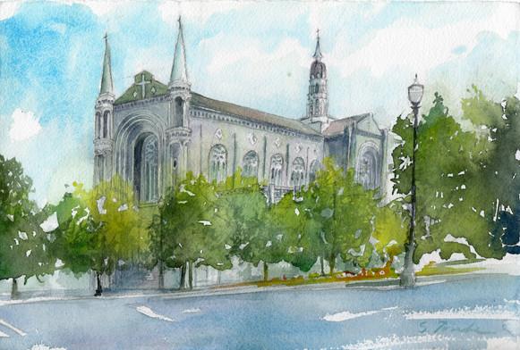 Sumiyo Toribe- Notre Dame - watercolor, August 2009
