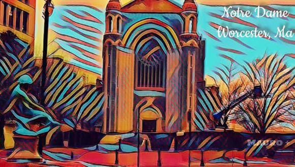 Mauro DePasquale- My Notre Dame - digital art, May 2018