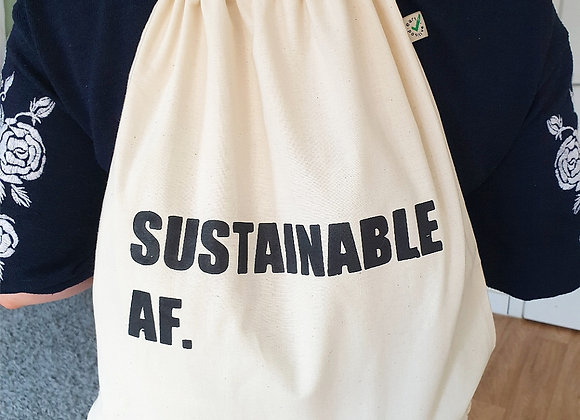 SUSTAINABLE AF DRAWSTRING BAG