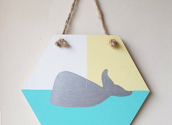 Handmade Whale Wall Plaque