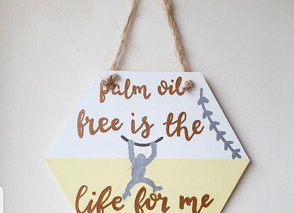 Handmade Palm Oil Free Orangutan Wall Plaque