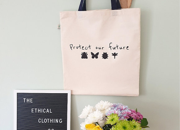 PROTECT OUR FUTURE TOTE NAVY HANDLES