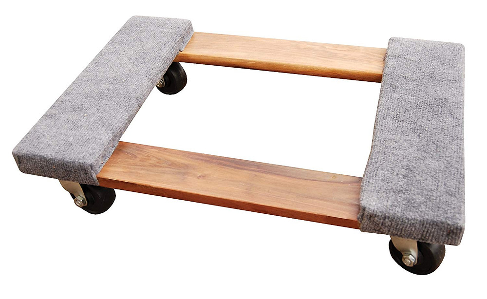 Vestil HDOC-1624-9 Hardwood Dolly with Carpet End is used for moving heavy furniture