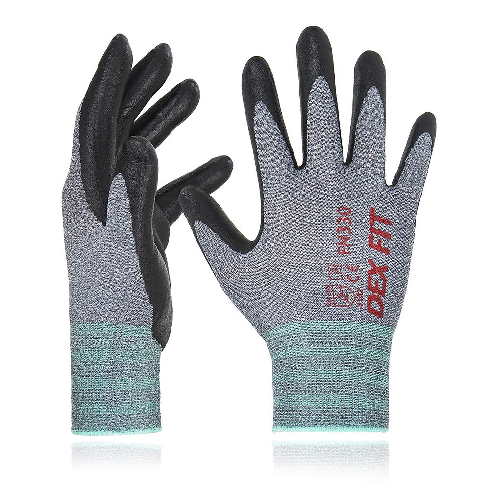 If you're going to be carrying a lot of heavy furniture, the DEX FIT Nitrile Work Gloves will significantly increase your grip and protection.