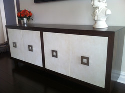 Mahogany Stained and Parchment Doors