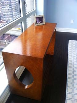 Faux Burl Wood Table