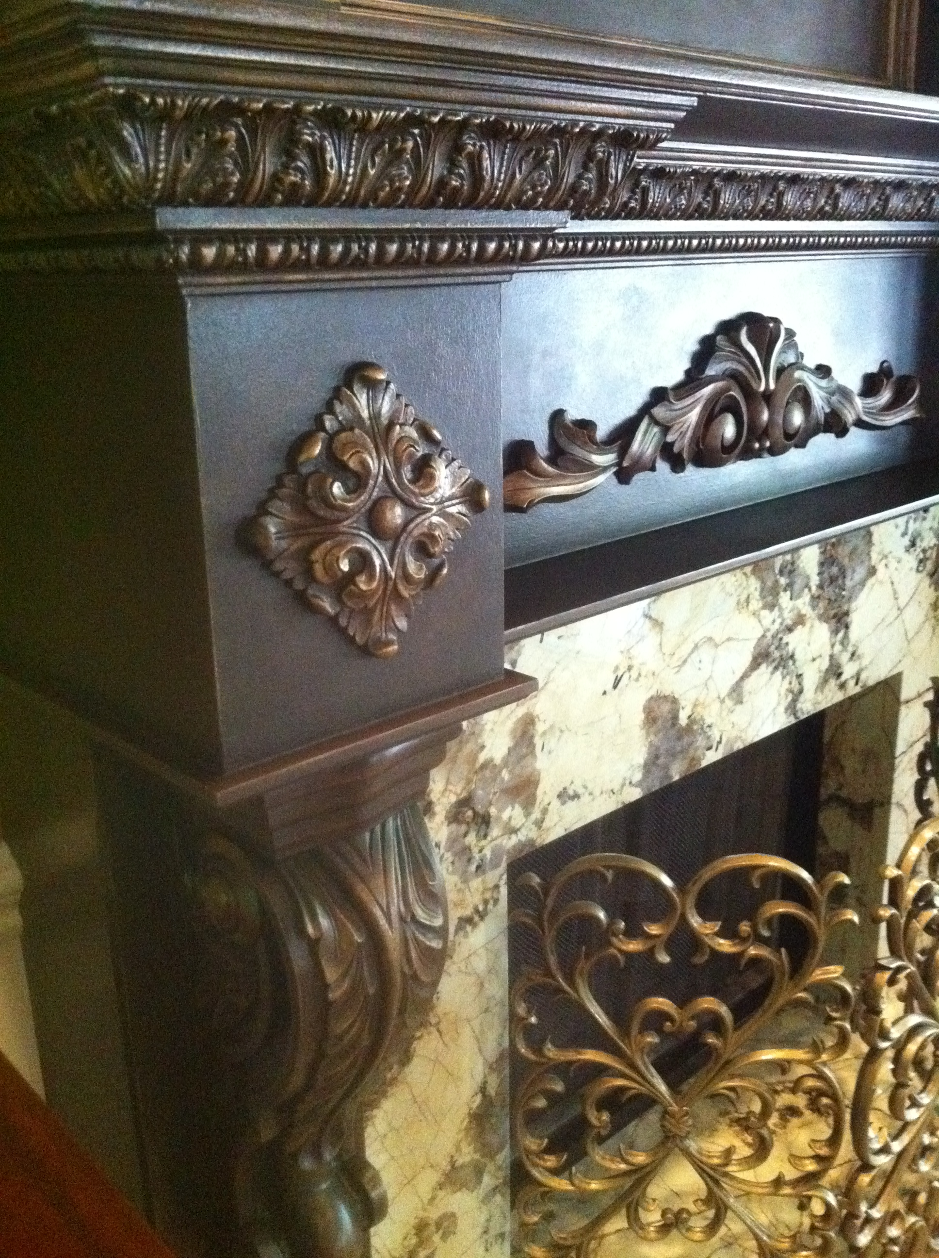Oil Rubbed Bronze Mantel