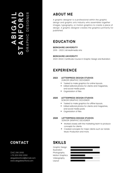 Black Professional Resume