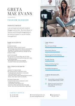 Light blue and Gray Modern Resume