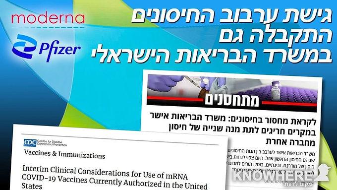 Ynet | גישת ערבוב החיסונים התקבלה גם במשרד הבריאות הישראלי