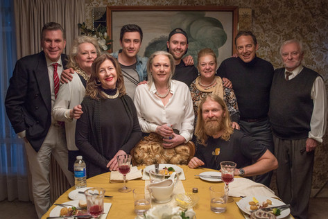 The cast of 'Serivng Joy' with Producer Ivan Bradara & director Martin Sharpe.