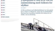 Fimm spurningar er nóg til að sýna fram á tengsl við aukna áhættu