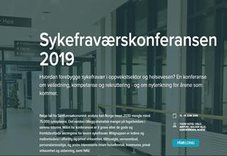 Sykefraværskonferansen 2019 - allt um veikindafjarveru í Noregi