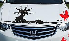 Печать декоративных наклеек на автомобили