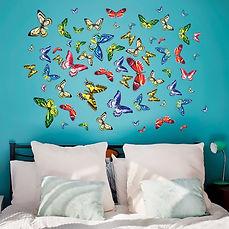 Наклейка бабочки на стену