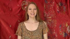 Julie-Marie Parmentier interprète un conte deNoël