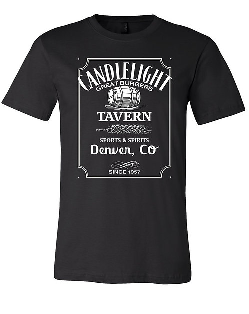 Candlelight Tavern Black Whiskey Shirts
