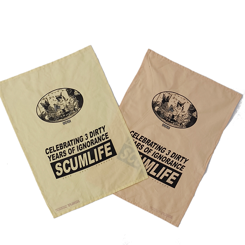 3 DIRTY YEARS SCUMLIFE BIRTHDAY TEA TOWEL (2 PACK)