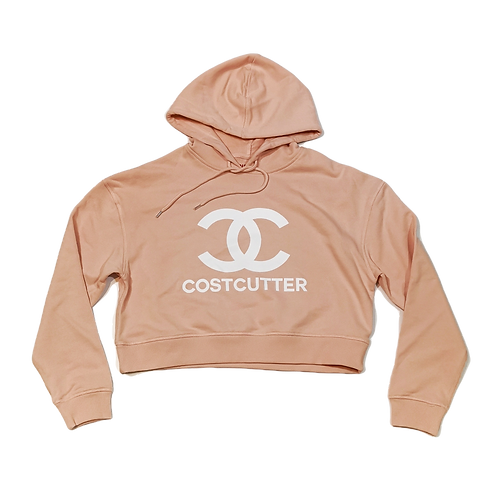 OFFICIAL OFF-LICENSED CHANEL x COSTCUTTER DESIGNER LADIES CROP HOOD