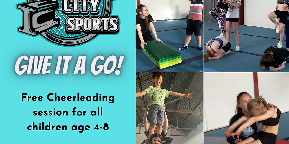 Give it a Go: Free Cheerleading Session for Age 4-8