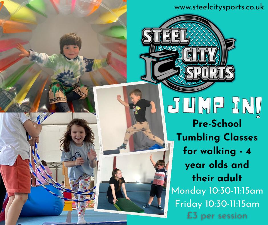 JUMP IN! Pre-School Tumbling