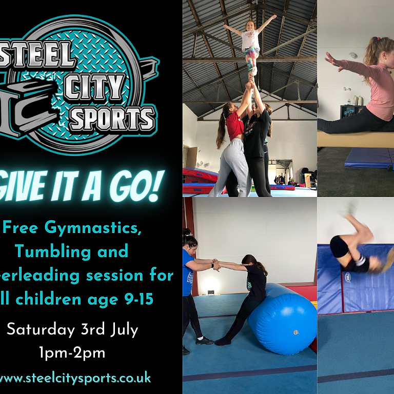 Give it a Go: Gymnastics, Tumbling and Cheerleading for Age 9-15