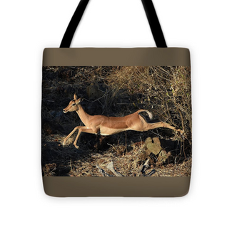 Leaping Impala Tote Bag