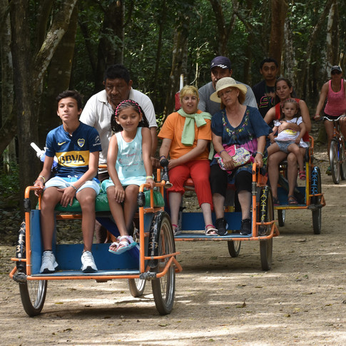 On the road to the Coba ruins