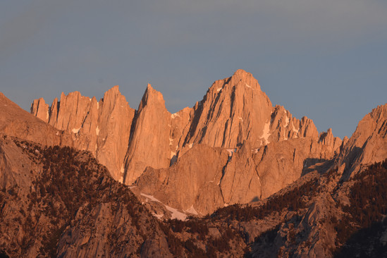 East Face of Mt. Whitney in Morning Light