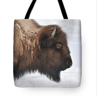 Bison Profile Tote Bag