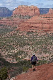 "On ""The Hangover"" trail above Sedona"