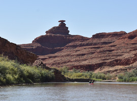 Mexican Hat Rock from the River