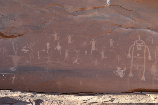 Petroglyphs along the banks of the San Juan