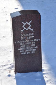 A Cheyenne Warrior Fell Here