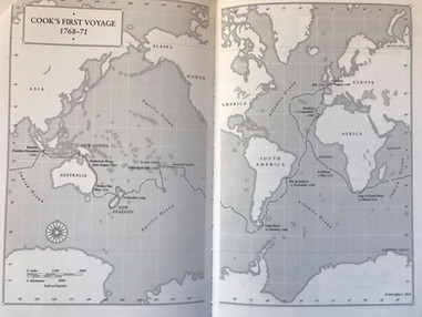 Map of Cook's First Voyage