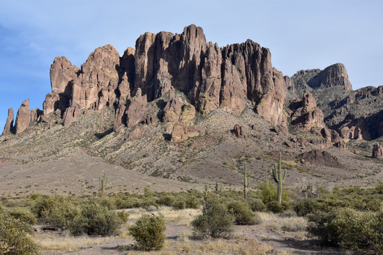 The Flatiron (far right), and nearby peak