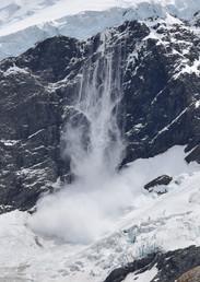 Snow Avalanche on Mt. Sefton