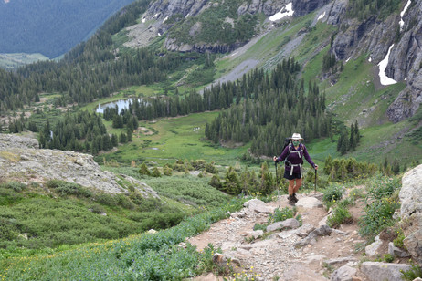 Descending into Lower Ice Lakes Basin