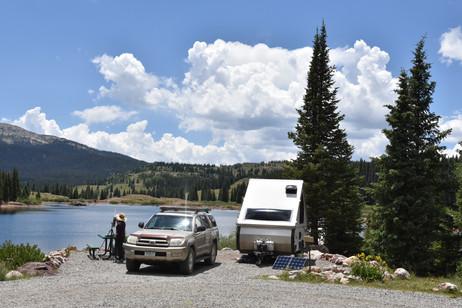 Our Molas Lake Campsite