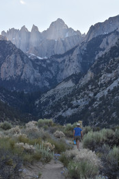 Mt. Whitney from lower Whitney Portal trail